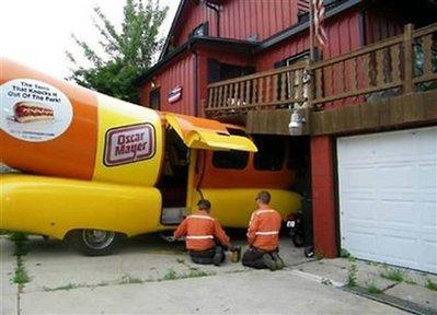 Wienermobile wreck
