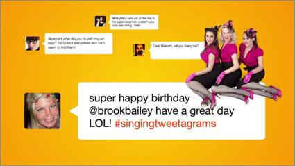 Singing-tweetagrams
