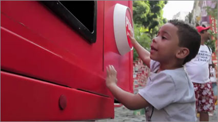 Coke now dispensing happiness from a truck