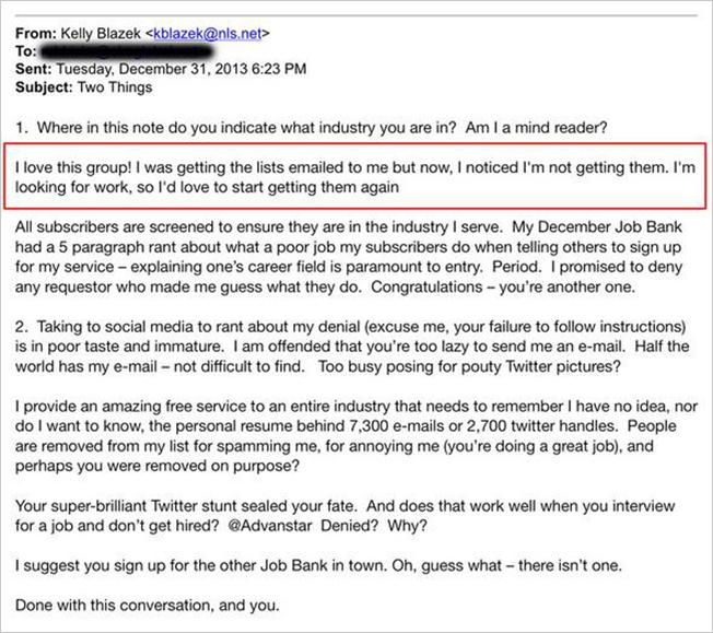 career fair thank you email