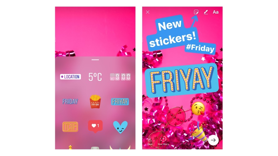 The newest stickers for instagram stories are for the days of the from those rough monday mornings all the way through sunday fun day ccuart Images