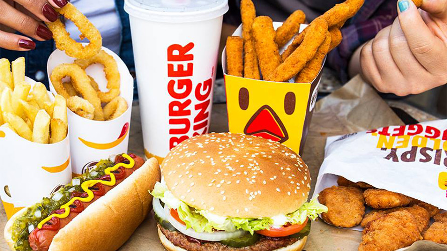 Burger King Fast Food Menu