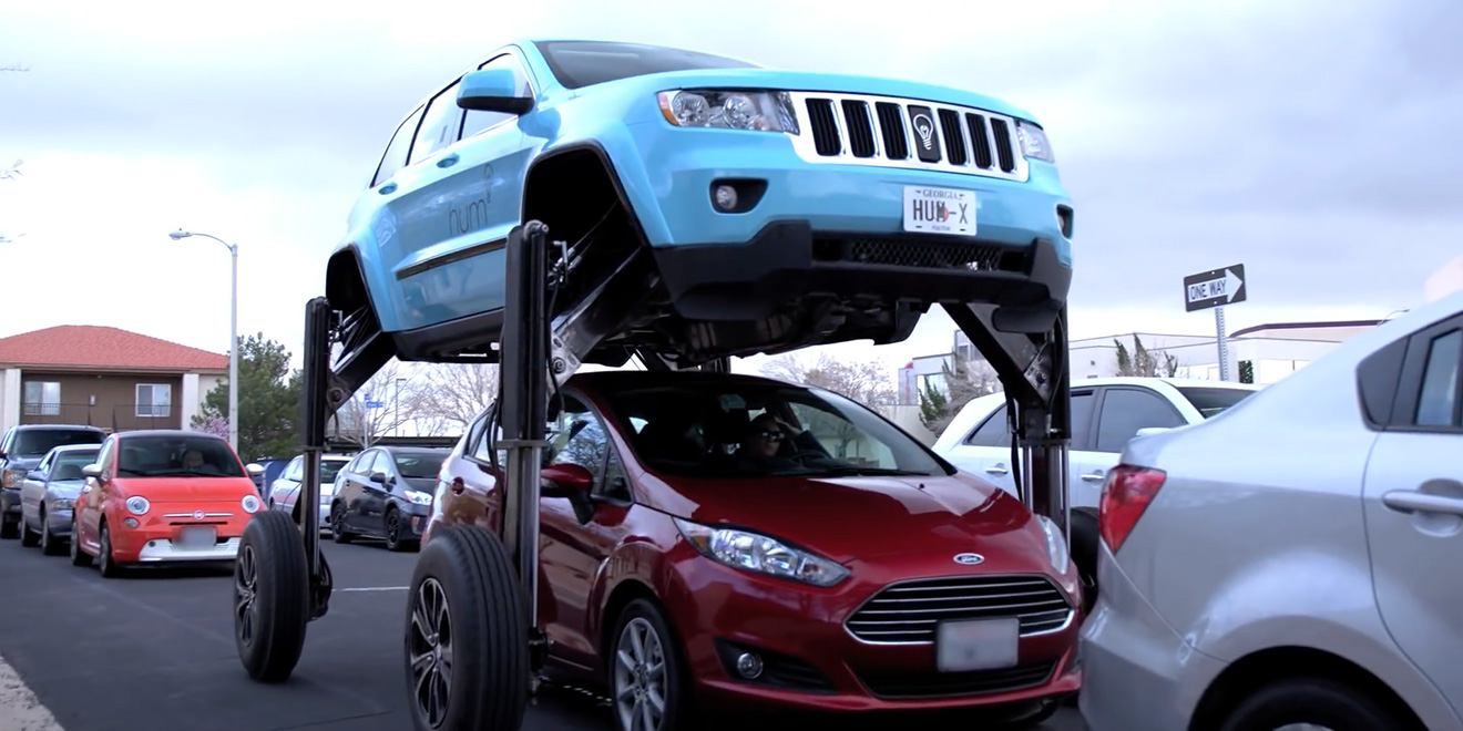 This Awesome Traffic Jam Beating Car Is A Sneaky Ad For Something
