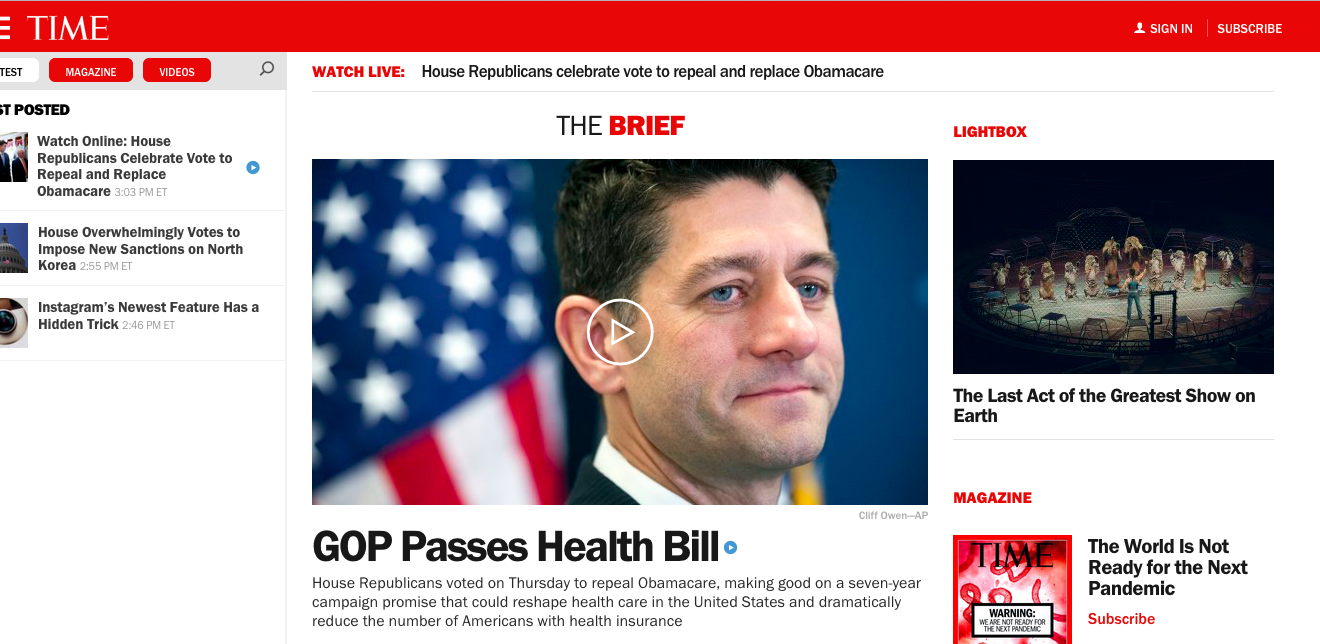 headline check: house passage of gop health care bill – adweek