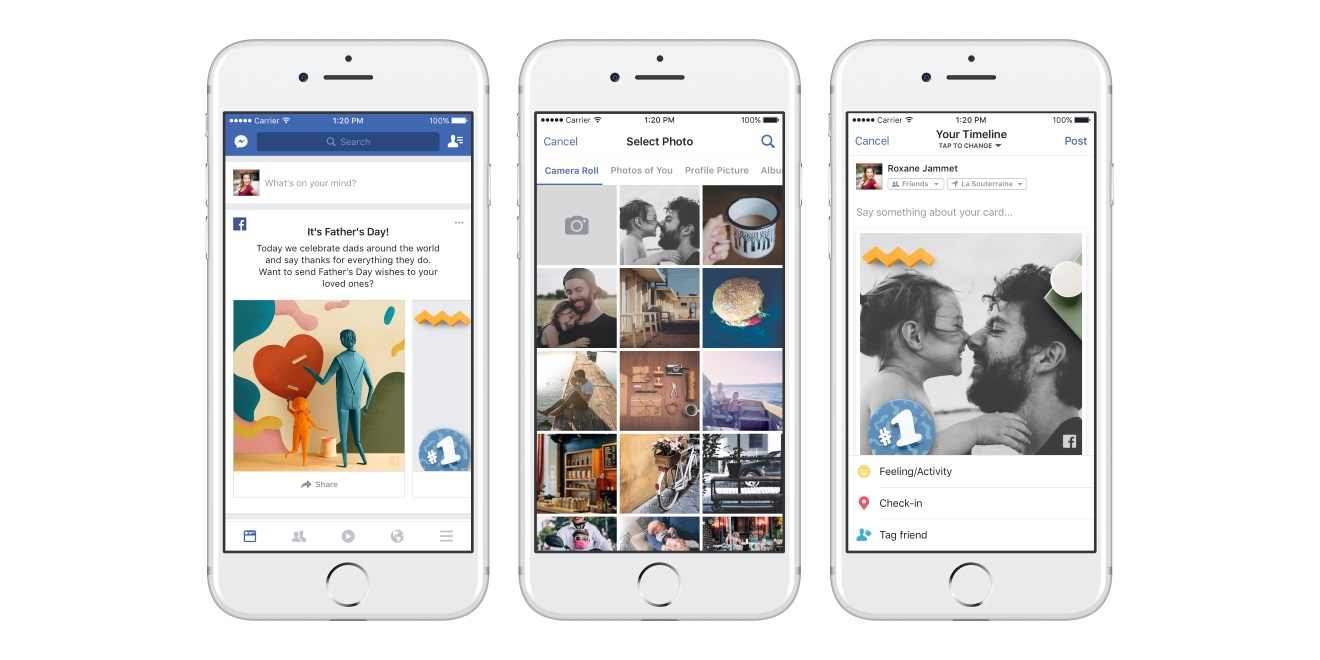 Facebook rolled out several ways to say happy fathers day adweek more than 830 million photos and videos were shared on fathers day last year kristyandbryce Choice Image