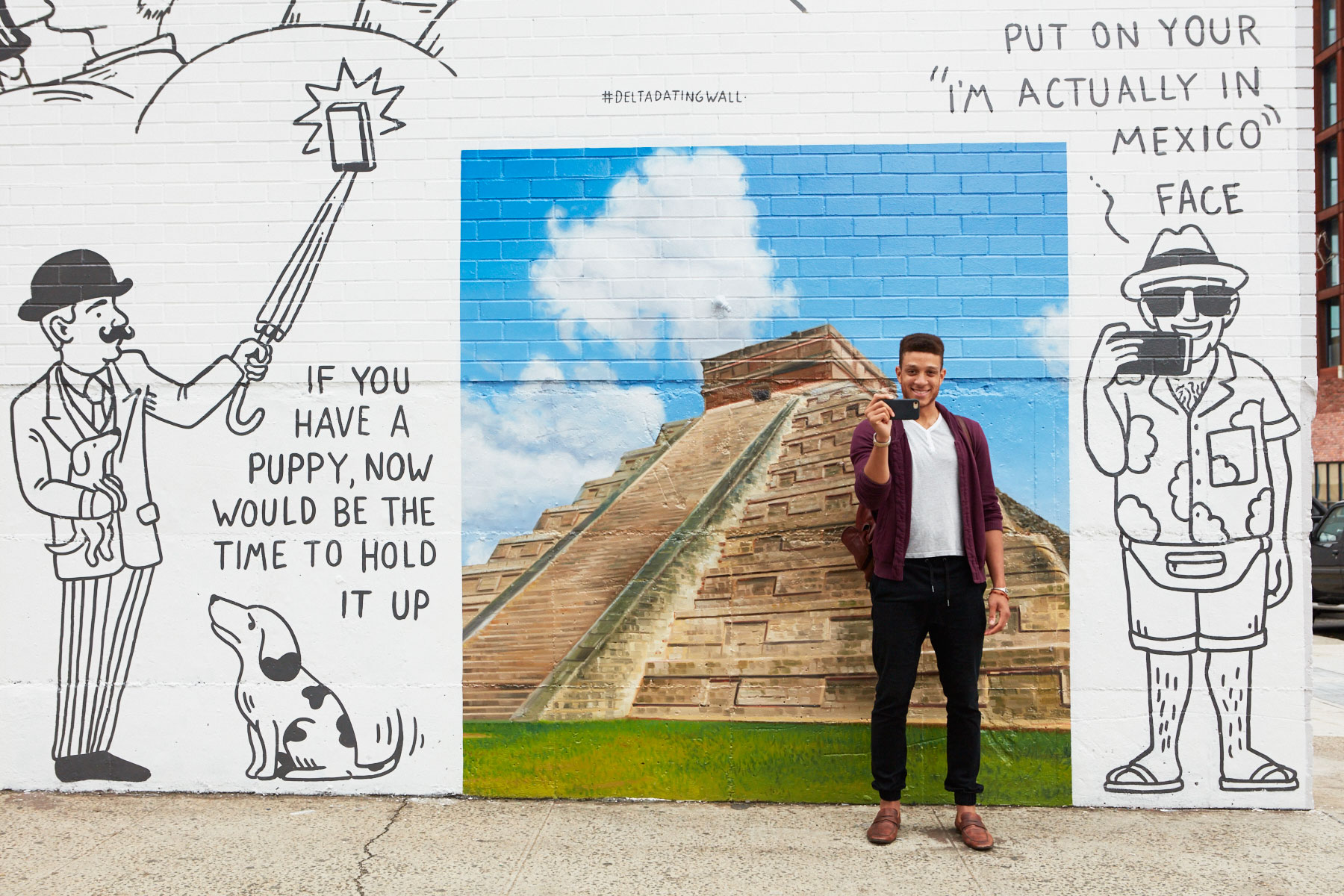 In addition to the #DeltaDatingWall on Wythe Avenue, Delta commissioned  another wall in the middle of Brooklyn's Smorgasburg event.