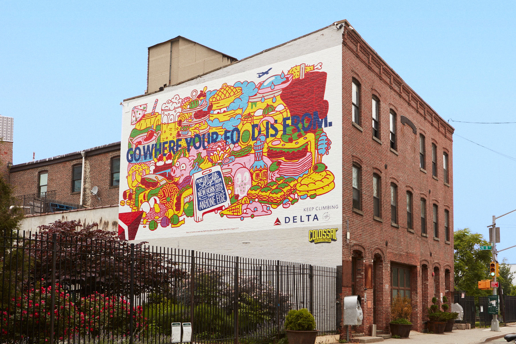 In Addition To The #DeltaDatingWall On Wythe Avenue, Delta Commissioned  Another Wall In The Middle Of Brooklynu0027s Smorgasburg Event. Part 84
