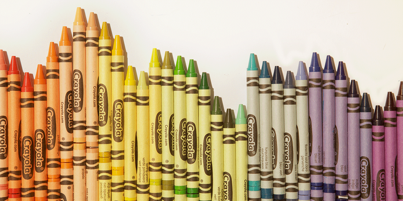 despite having 120 colors crayola uses only 12 different colors of wrappers