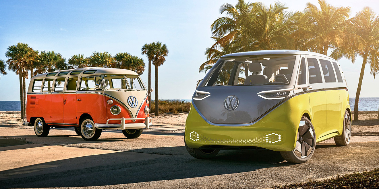 was vw s i d buzz the reincarnation of its iconic microbus destined to be electric adweek. Black Bedroom Furniture Sets. Home Design Ideas