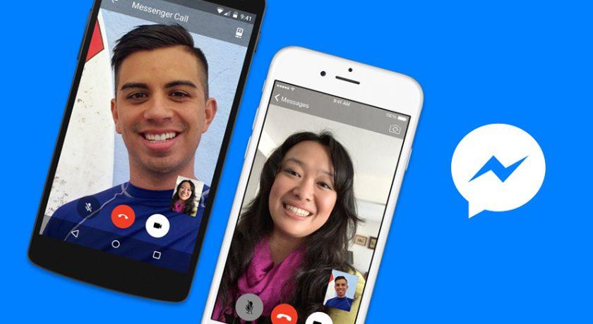 Na imagem, duas pessoas conversam através da ligação, pelo Facebook Messenger.