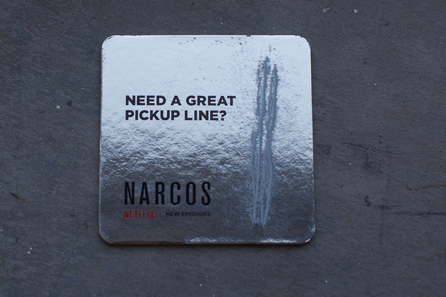 Netflix S Secretive New Narcos Ads Are Popping Up Cocaine