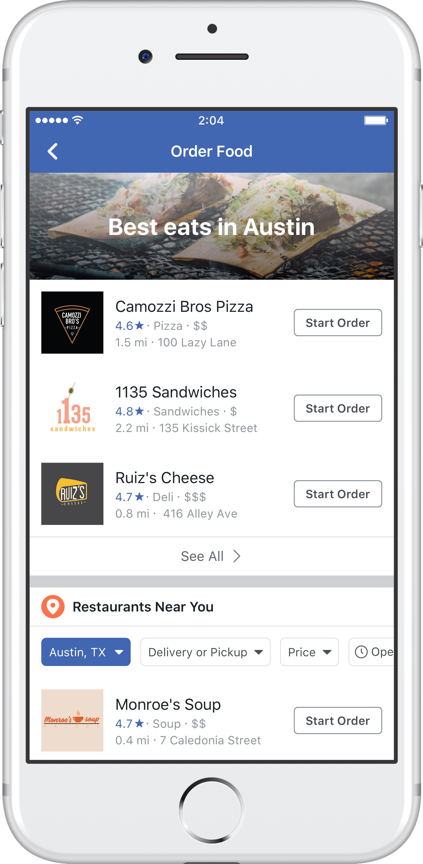 You Can Now Order Food On Facebook Without Leaving The App