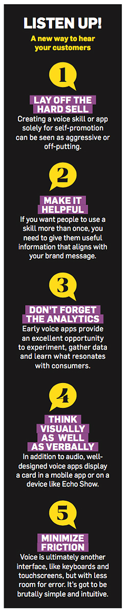 As Voice Has Its Moment, Amazon, Google and Apple Are Giving Brands a Way Into the Conversation – Adweek listen up1