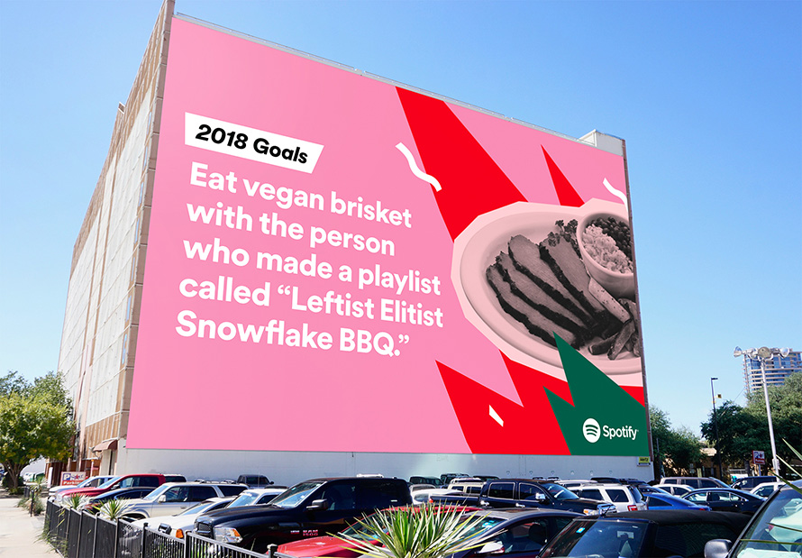 2018 Goals Spotify >> Spotify Unearths More Hilarious User Habits in Global Outdoor Ads for the Holidays – Adweek