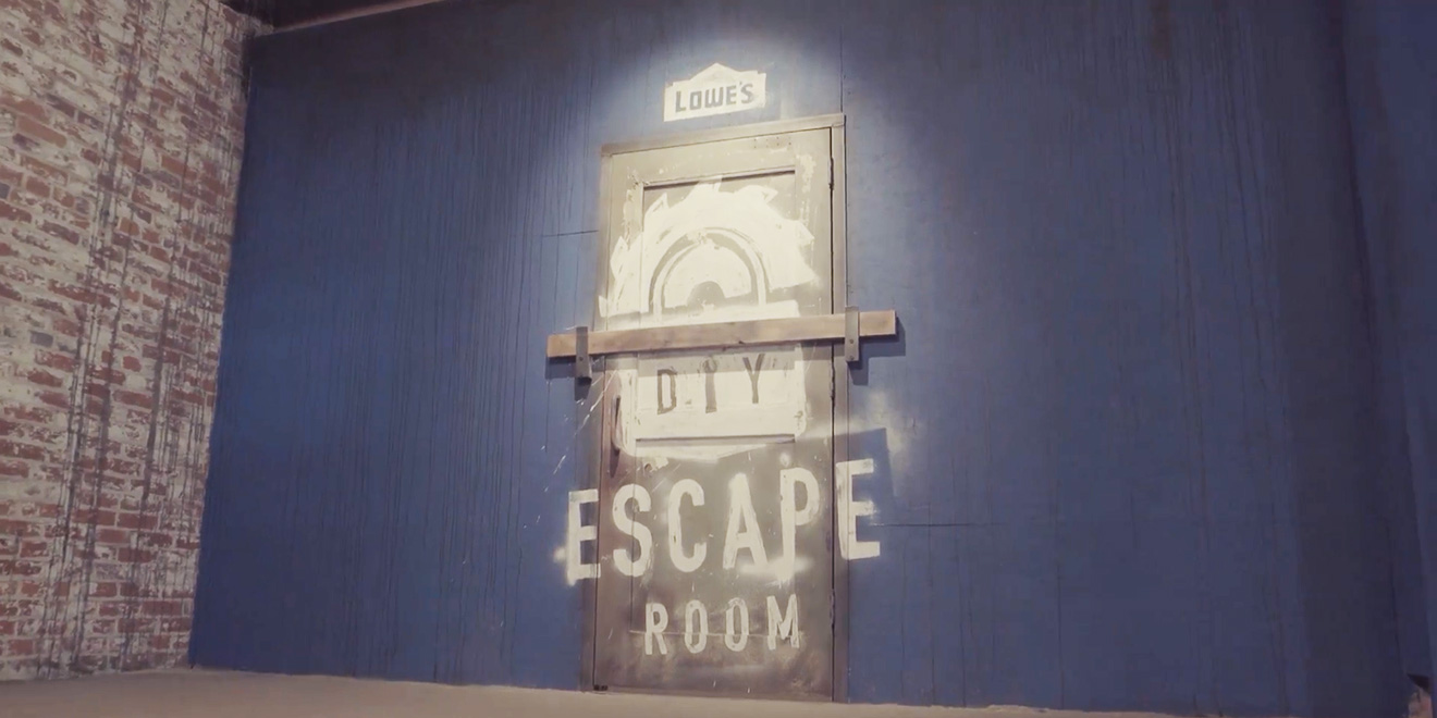 Lowe s built an escape room and challenged four diyers to for Escape room equipment