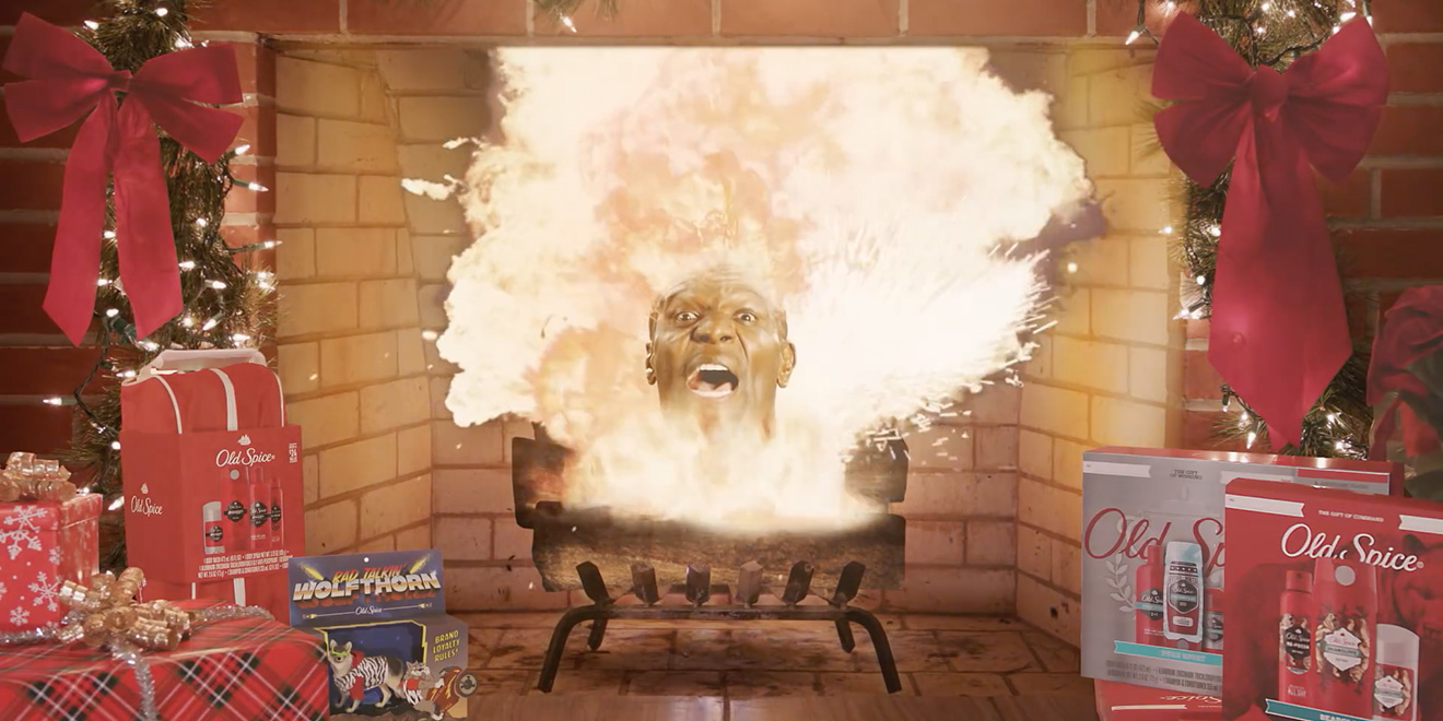 Old Spice and Terry Crews Bring You 'Ye Olde Exploding Yule Log' for the Holidays