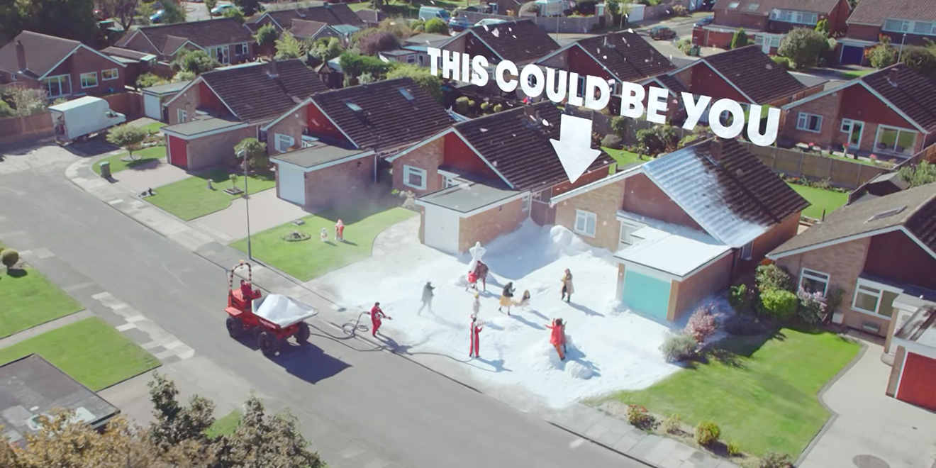 This British Holiday Campaign Promises Lucky Shoppers Their Own Personal White Christmas