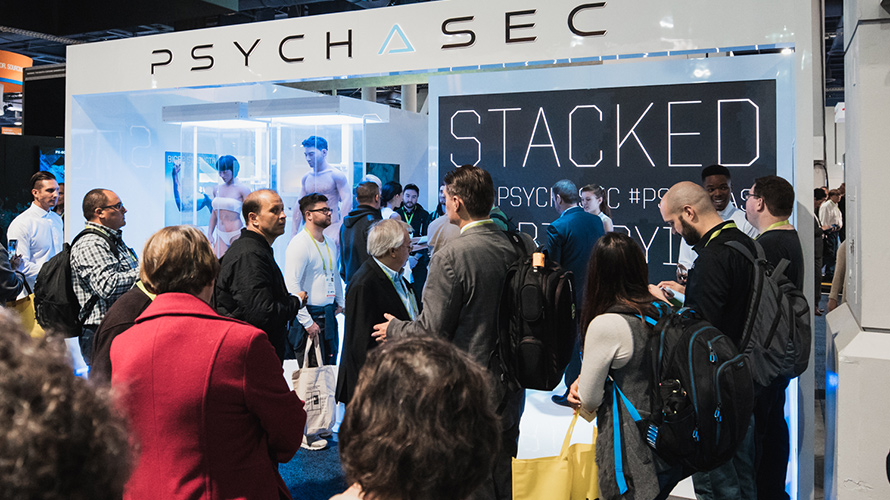 Exhibition Booth Set Up : The most disturbing booth at ces is actually an ad for