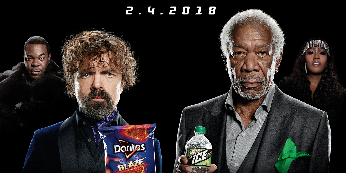 Morgan Freeman and Peter Dinklage Have an Epic Lip-Sync Battle in Super Bowl Ad for Mountain Dew and Doritos