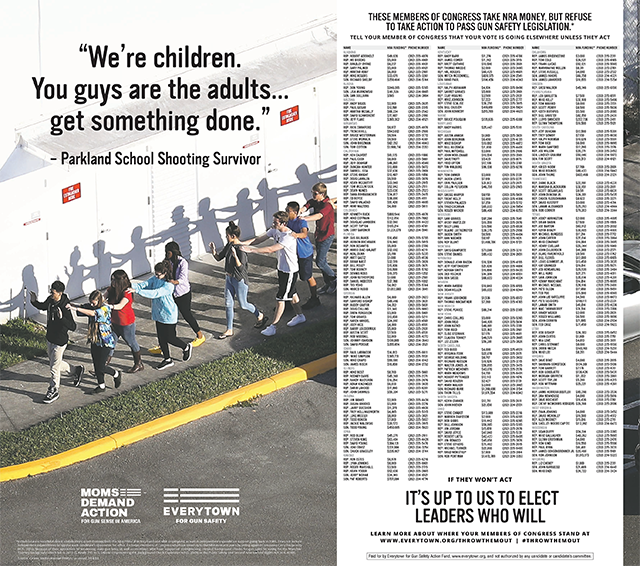 2-Page Ad In The New York Times Calls Out NRA-Backed