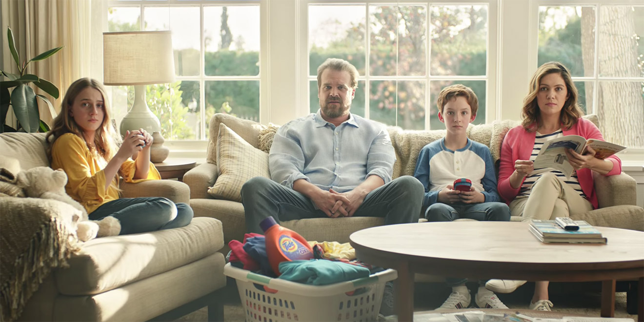 tide s spotless super bowl campaign as seen from inside the brand s war room adweek. Black Bedroom Furniture Sets. Home Design Ideas