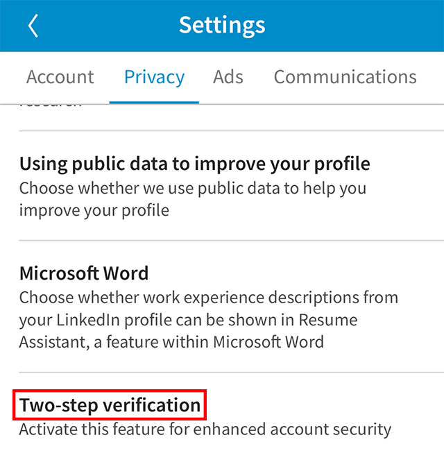 LinkedIn: Here's How To Turn On Two-Step Verification