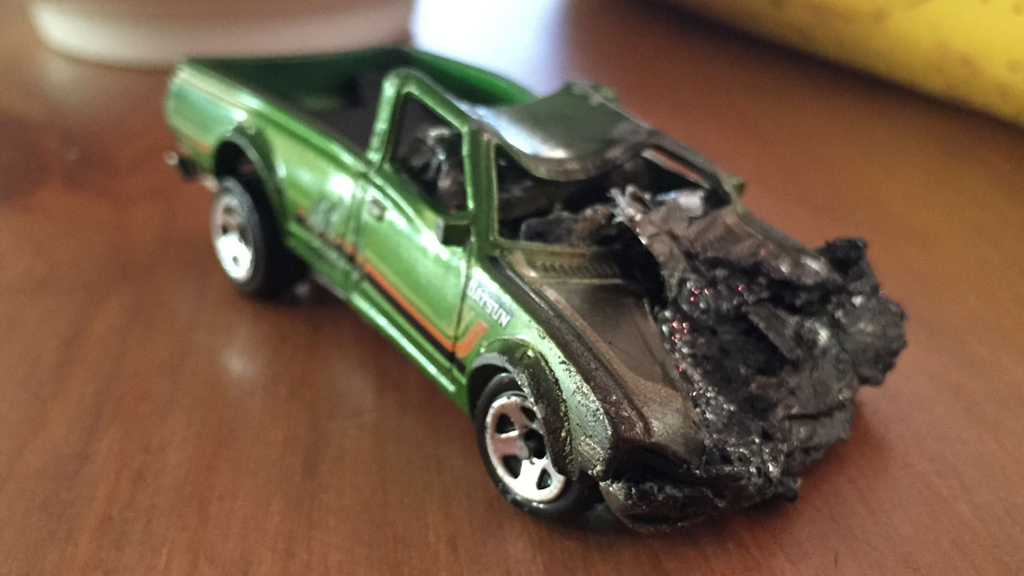 These Wrecked Toy Cars Found in Cereal Boxes Send a Sobering Drunk ...