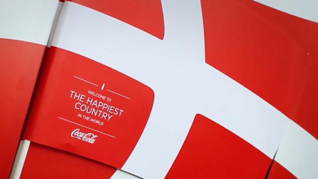 Coke Dispenses Danish Flags Hidden In Its Logo Adweek - Denmark flags