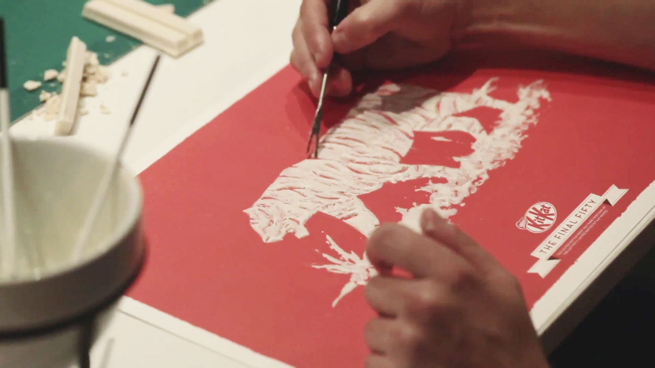 Kit Kat Breaks, Melts, Paints Candy Bars Into Lovely Posters – Adweek