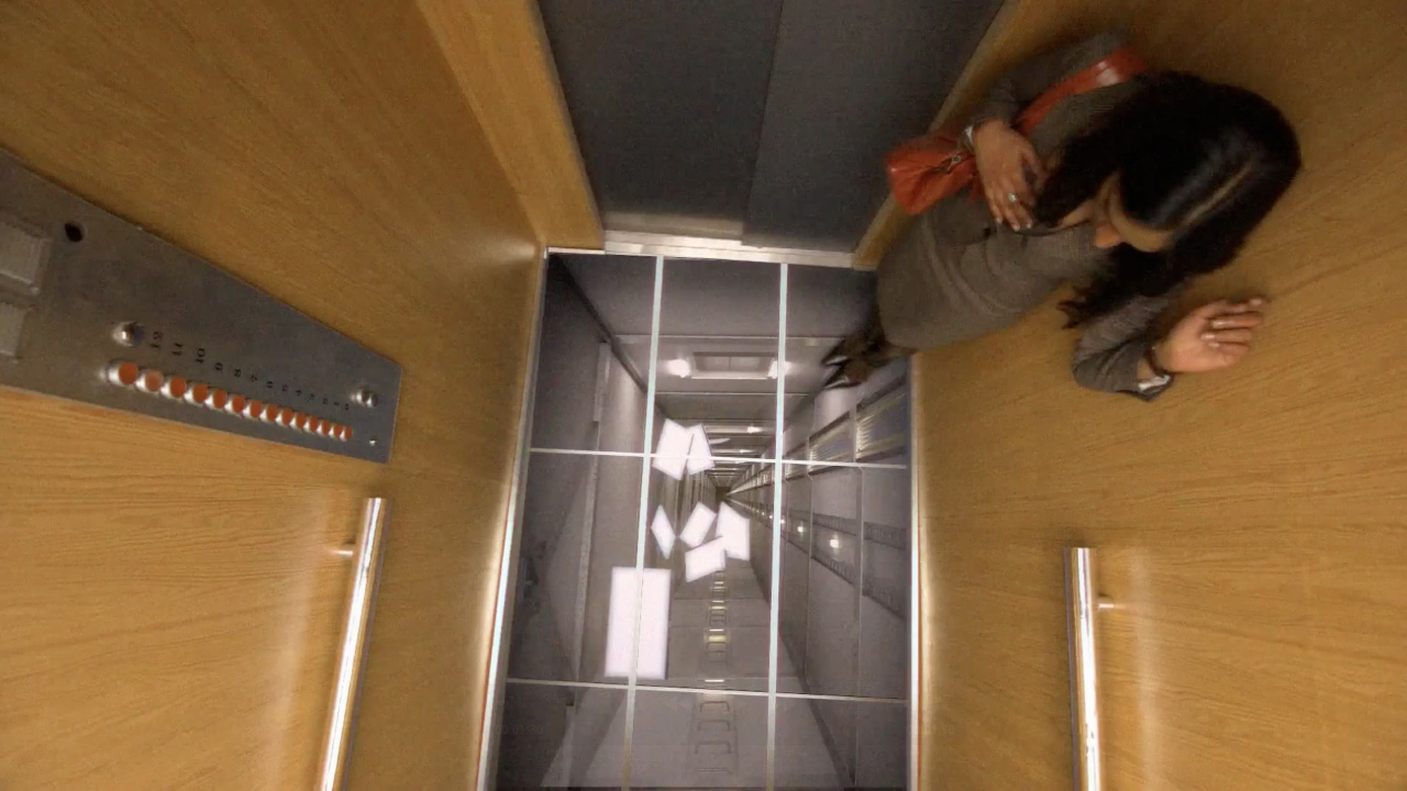Unsuspecting elevator riders get shafted in lg s latest for Elevator flooring options