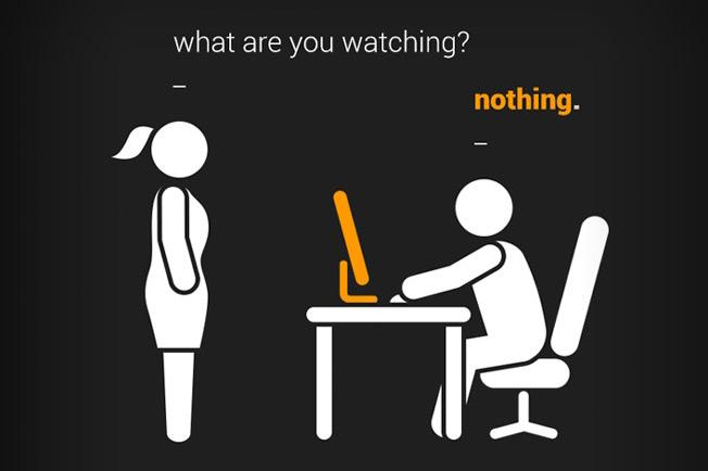 Advertisement from pornhub