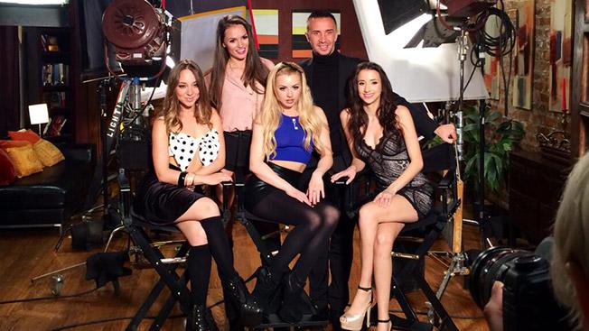 Porn stars Remy LaCroix, Tori Black, Lexi Belle, Keiran Lee, Belle Knox