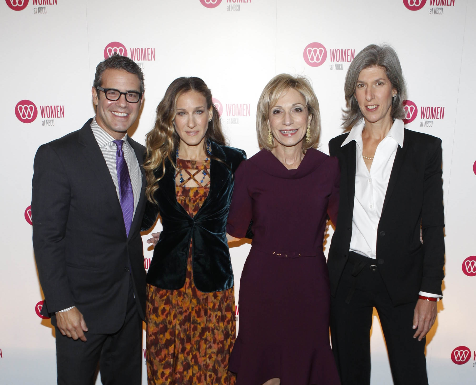 Bravo's Andy Cohen, Sarah Jessica Parker, NBC News' Andrea Mitchell, and NBCU's
