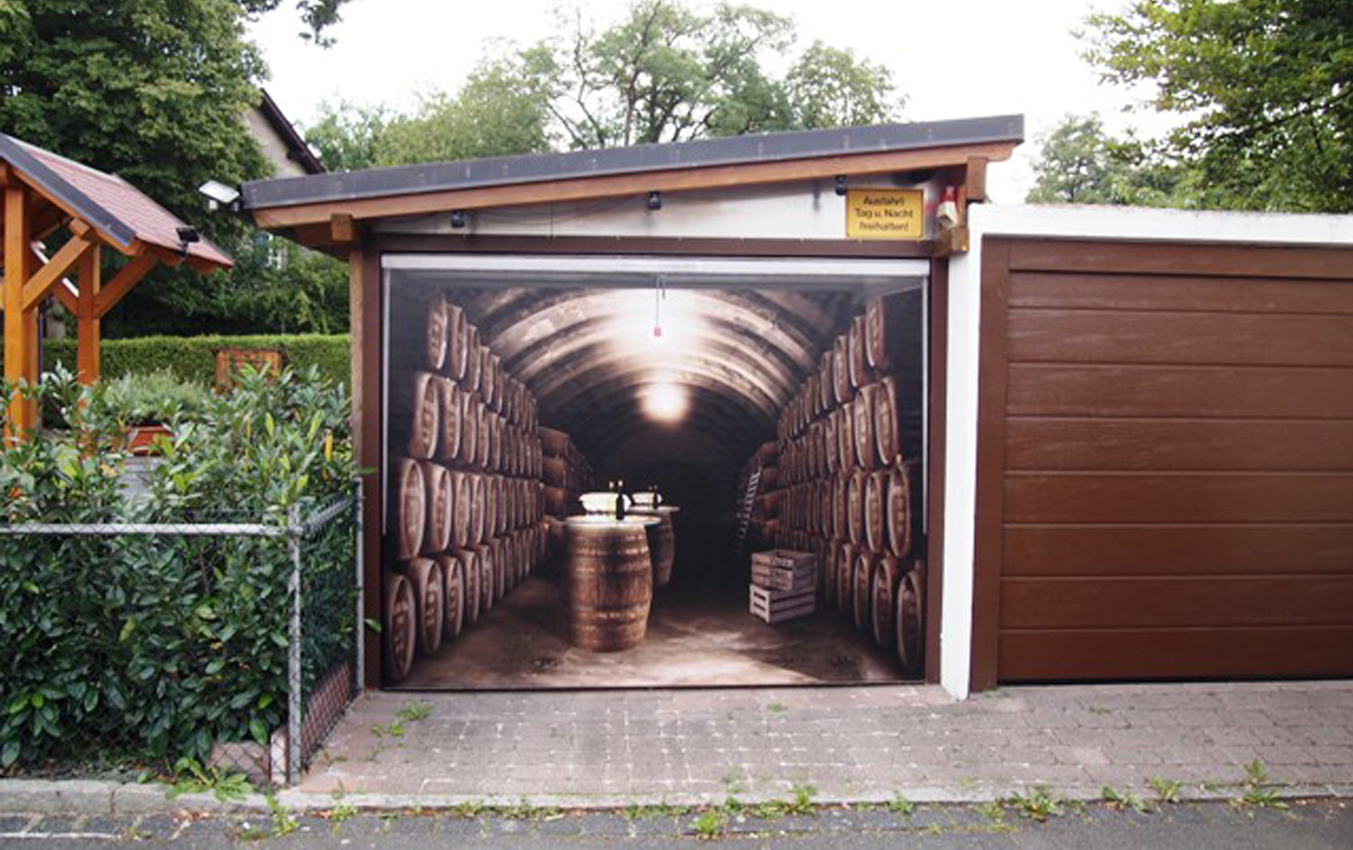 Impress Your Neighbors With A 3 D Fantasy Garage Door