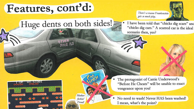 Maker Of The Best Craigslist Ad Ever Reveals How The Collage - May best craigslist ad car ever