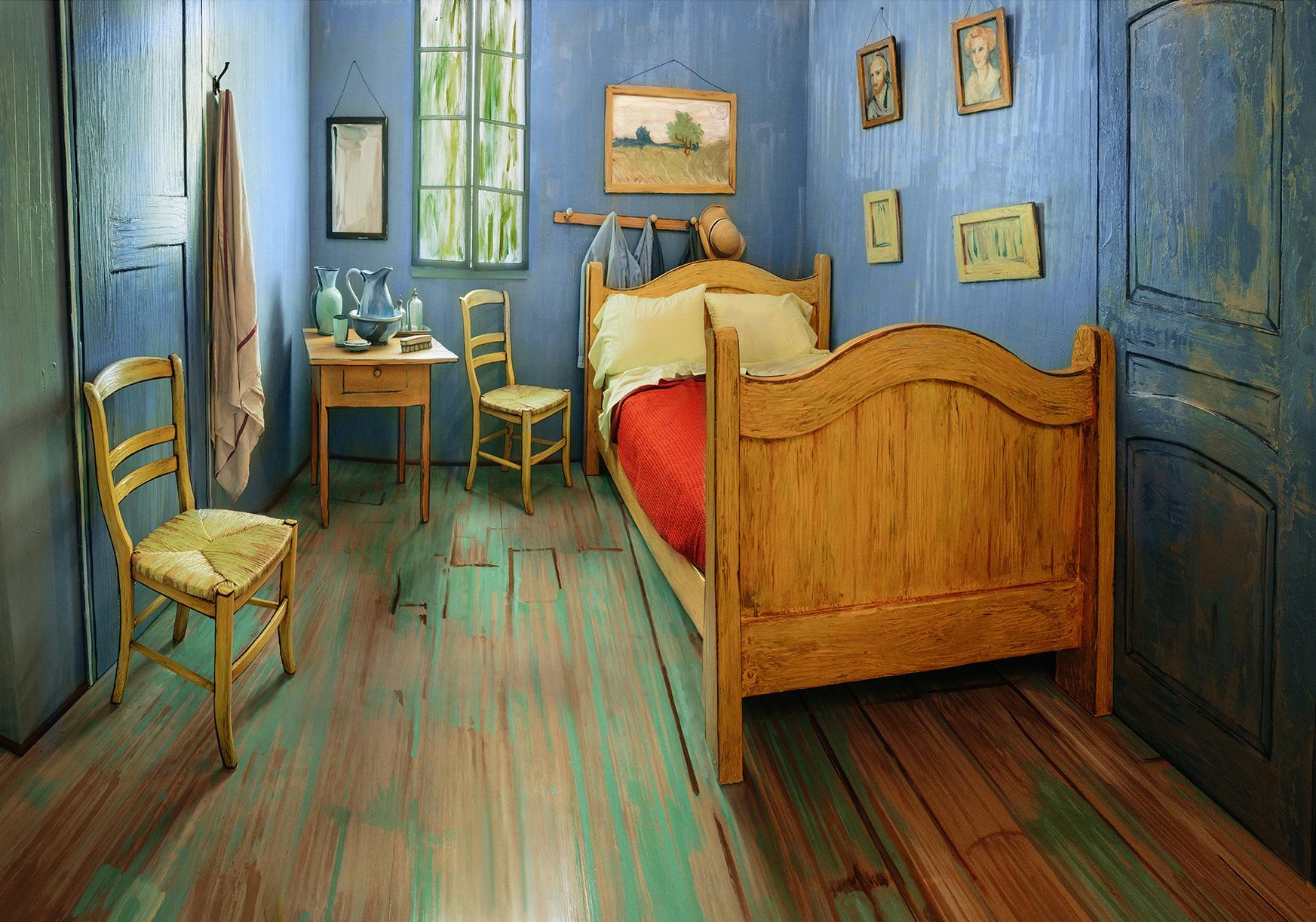 Leo Burnett Built a Livable Model of Van Gogh\'s \'Bedroom\' That You ...