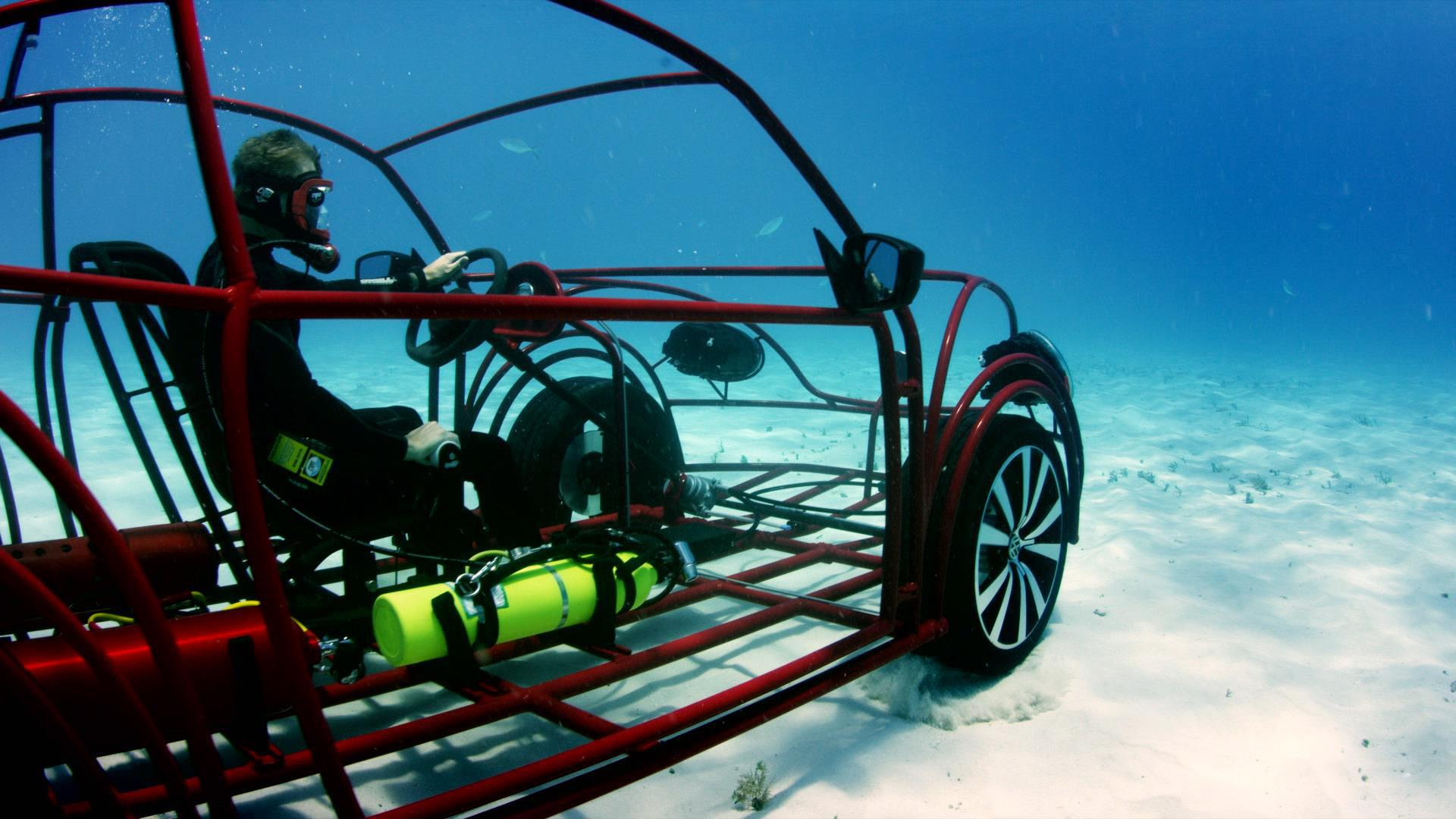 Vw Beetle Turned Into Underwater Shark Cage For Shark Week