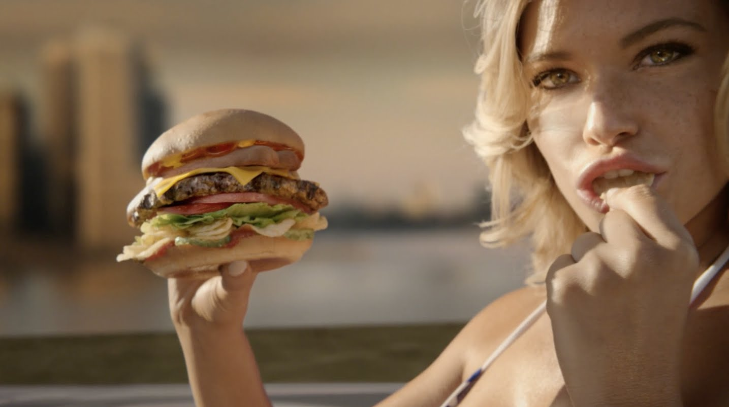an analysis of the use of womens body to sell burgers on the carls jr ads Carl's jr unveils grass-fed burger we can only hope that the carl's jr ad is selling this more humane food is by exploiting women in sexist ads.