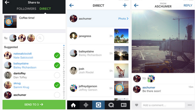 How instagram direct delivers messaging adweek ccuart Image collections