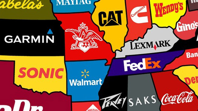A Map Of The U S That Shows Each State S Most Famous Brand Adweek