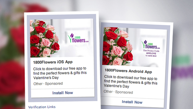 facebook mobile ads push flowers for valentine's day – adweek, Ideas