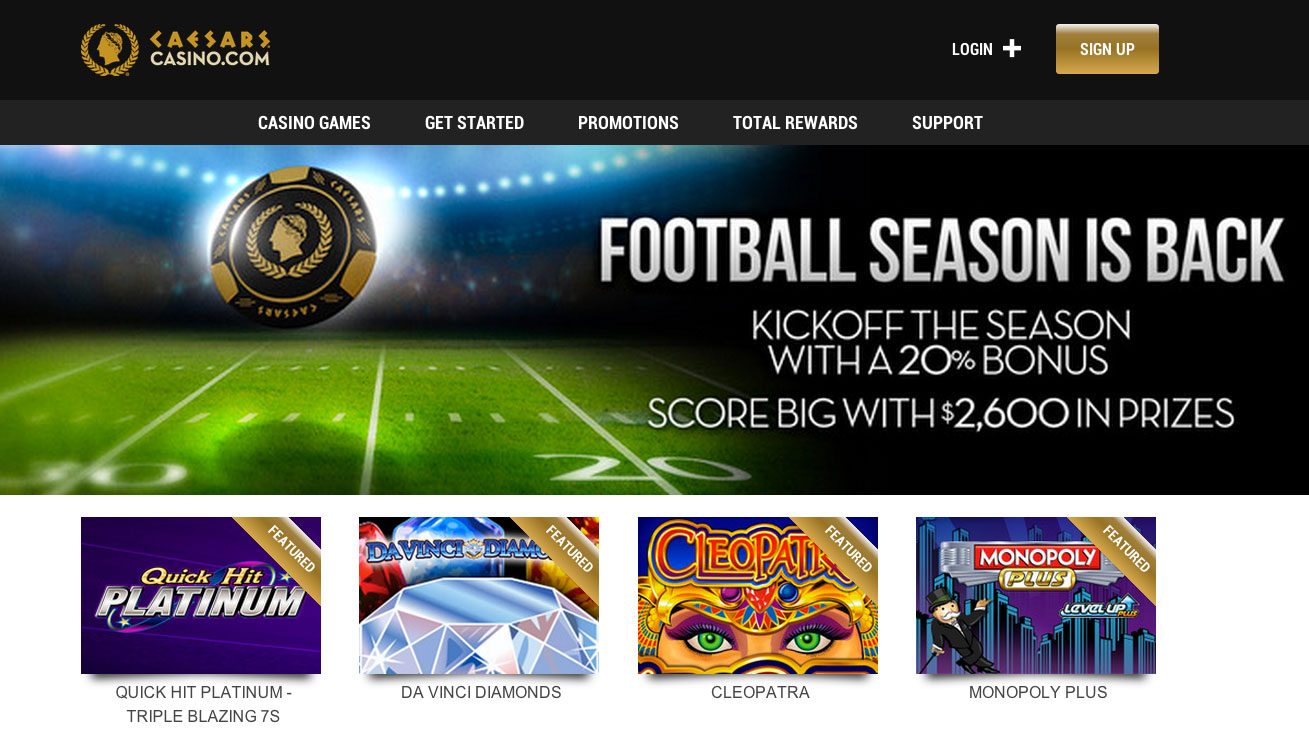 Ceasers online gambling slots a fun casino map