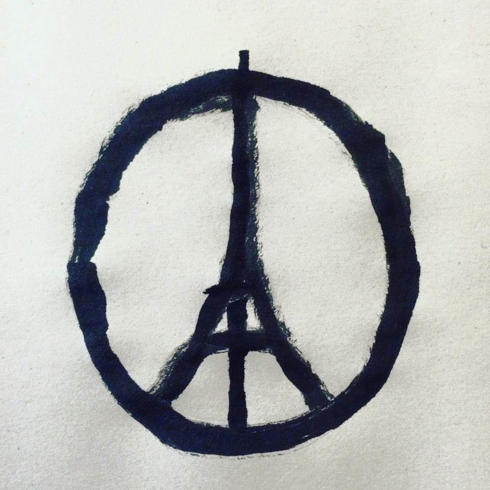 How a designers peace for paris sketch made in minutes became a jean julliens instinctive reaction to fridays attacks biocorpaavc Choice Image