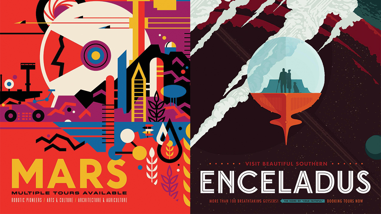 NASAs Gorgeous New Space Tourism Posters Are RetroFuturistic And - Retro style posters from nasa imagine how the future of space travel will look
