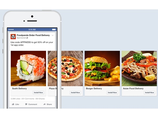 Facebook expands desktop video app ads carousel mobile app ads adweek facebook announced the expansion of the use of video creative in desktop application ads and the use of its carousel format in mobile app ads forumfinder Gallery