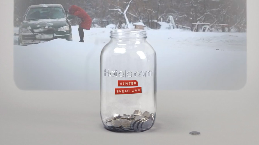 Hotels.com's 'Winter Swear Jar' Turns Obscene Tweets About the Weather Into Cash for Vacations