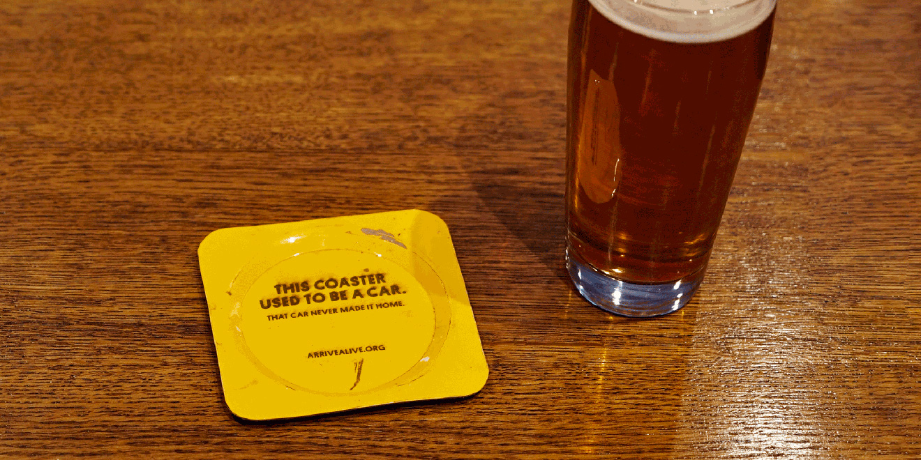For St. Patrick's Day, This Agency Made Metal Bar Coasters From Wrecked Cars