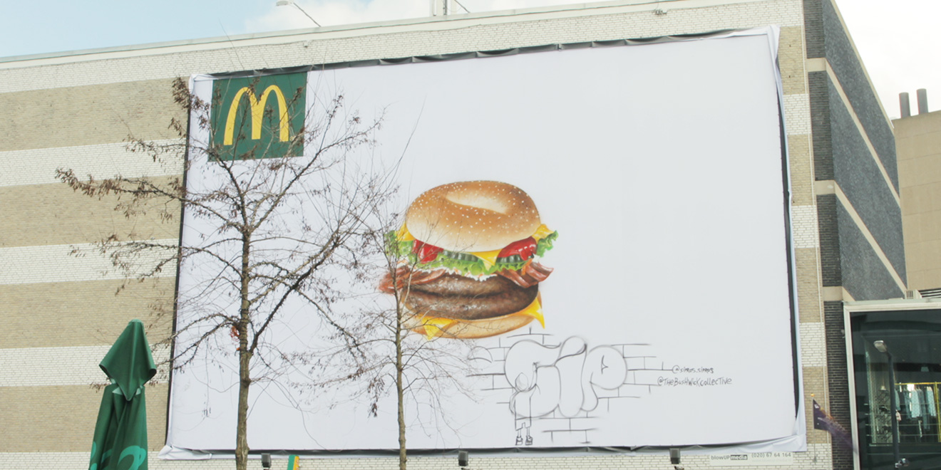 McDonald's Got NYC's Bushwick Collective to Paint Bagel Burgers on Billboards All Over Holland