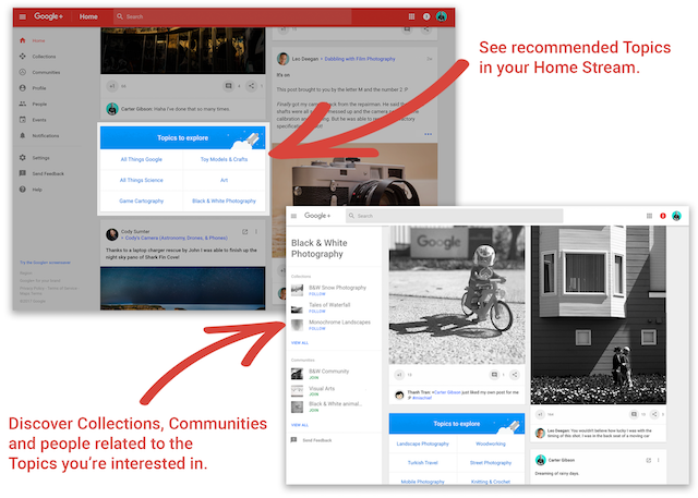 Google+ Adds Recommended Topics