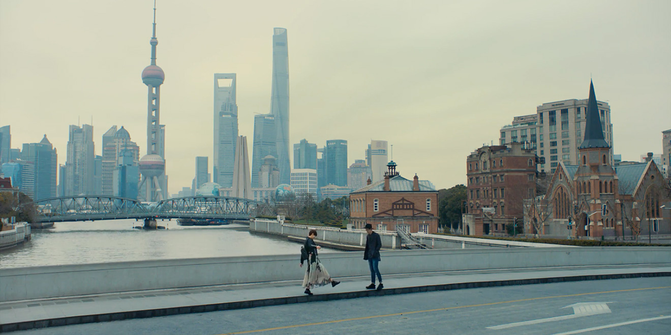 A couple are alone together in a city of millions in apples latest sharing a moment far from the shanghai crowds voltagebd Choice Image